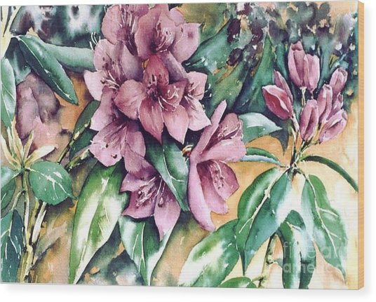 Rododendron Time Wood Print by Marta Styk