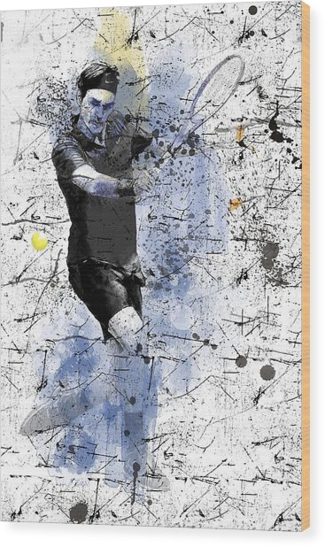 Roger Federer Wood Print