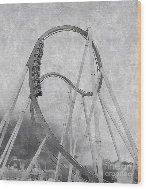 Hulk Roller Coaster Ride Wood Print
