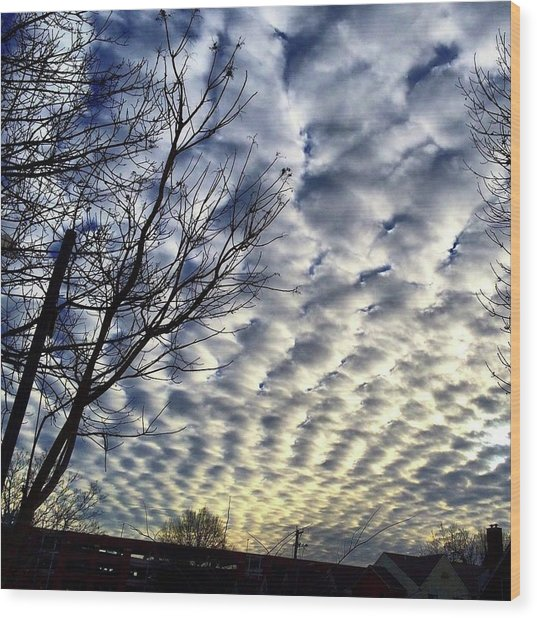 Rolling Clouds Wood Print