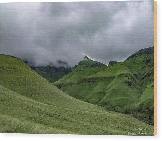 Rolling Green Drakensberg Mountains Wood Print