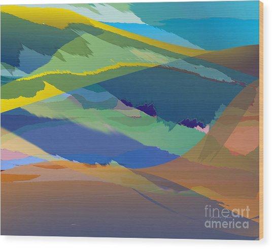 Rolling Hills Landscape Wood Print