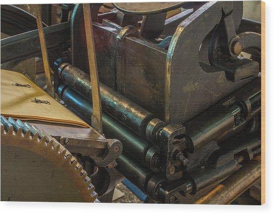 Rolling In Ink Wood Print
