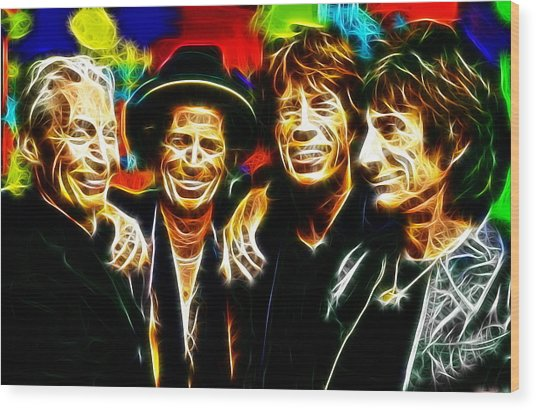 Rolling Stones Mystical Wood Print