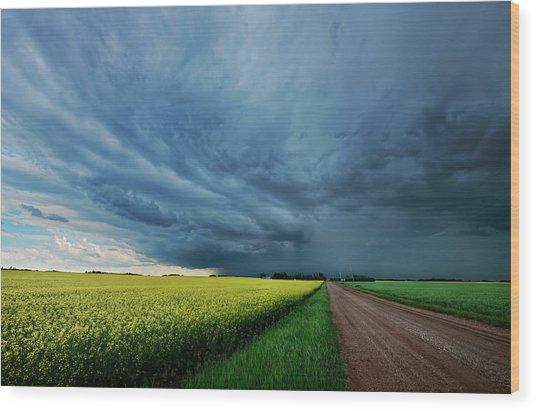 Rolling Storm Wood Print