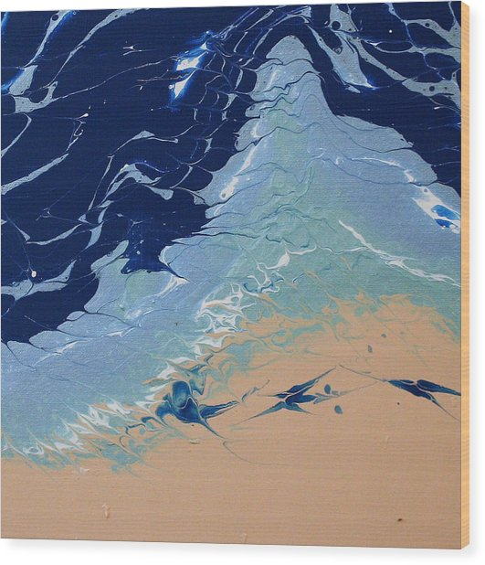 Wood Print featuring the painting Rolling Tides by Vicki Winchester