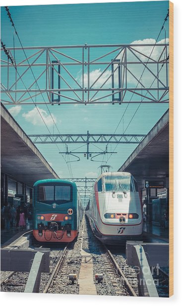 Roma Termini Railway Station Wood Print