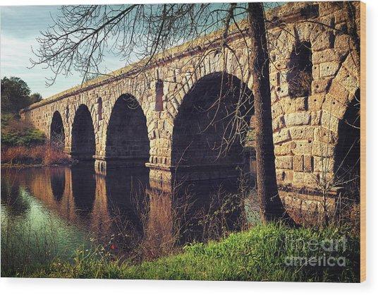 Roman Bridge Wood Print
