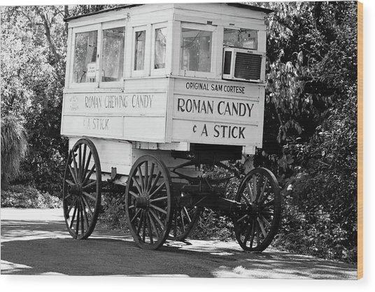 Roman Candy - Bw Wood Print