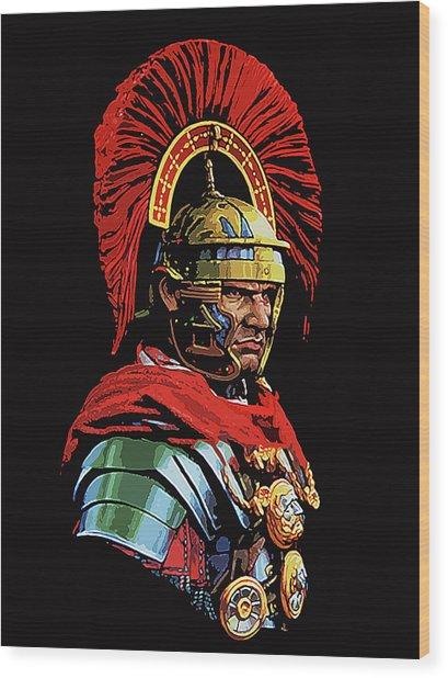 Roman Centurion Portrait Wood Print