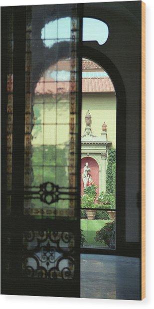 Roman Courtyard View Wood Print