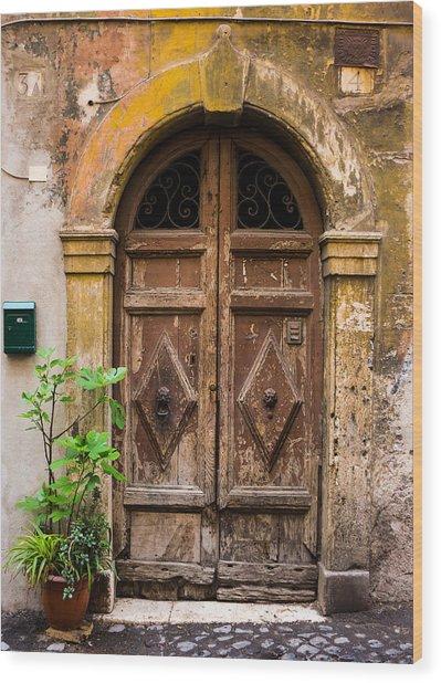 Roman Door Wood Print