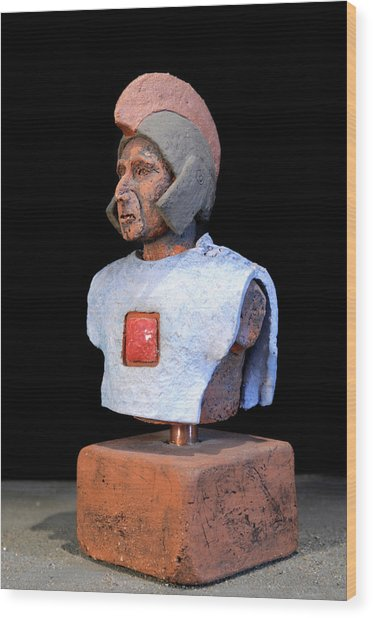 Roman Legionaire - Warrior - Ancient Rome - Roemer - Romeinen - Antichi Romani - Romains - Romarere  Wood Print by Urft Valley Art