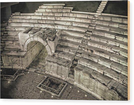 Roman Stadium Plovdiv Wood Print