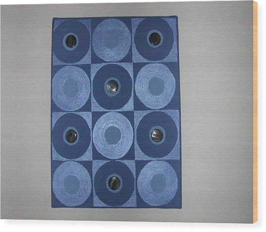 Romancing The Blue Stone Wood Print by Gay Dallek