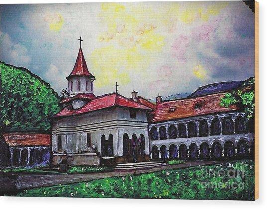 Romanian Monastery Wood Print