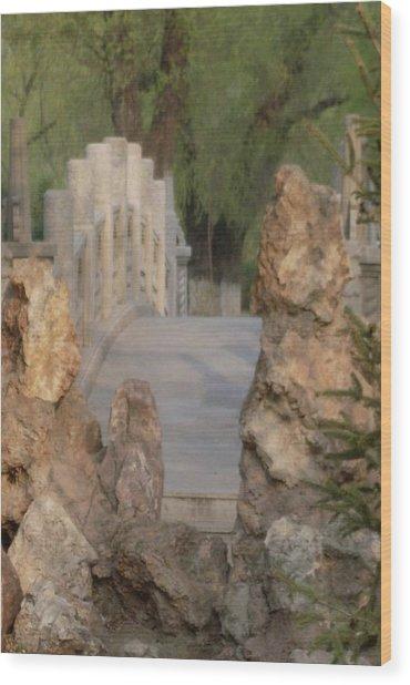 Romantic Bridge Wood Print by Norman Reutter