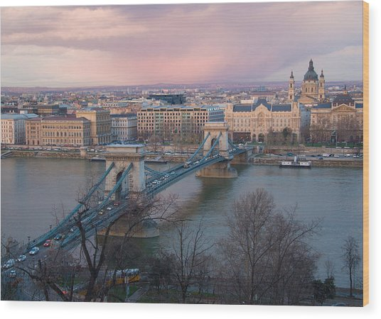 Romantic Budapest Again Wood Print