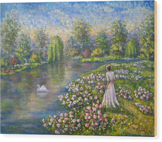 Romantic Lake Wood Print