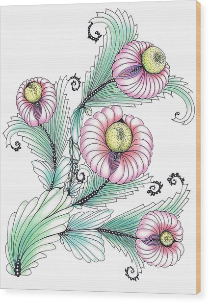 Romashki Wood Print