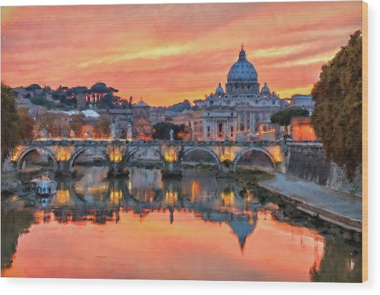 Rome And The Vatican City - 01  Wood Print
