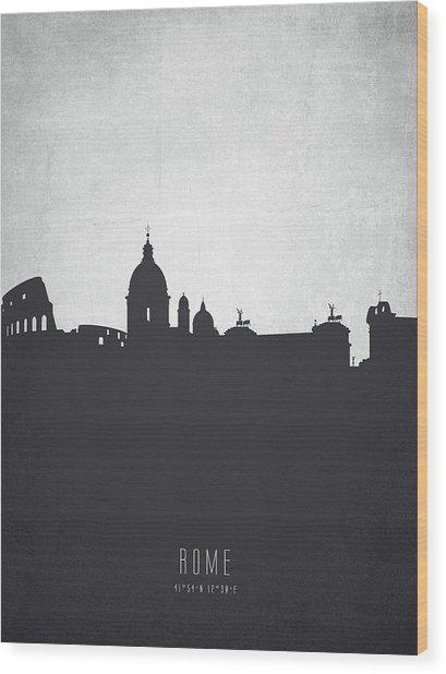Rome Italy Cityscape 19 Wood Print