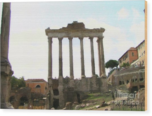 Rome The Eternal City Wood Print