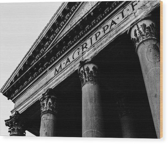 Rome - The Pantheon Wood Print