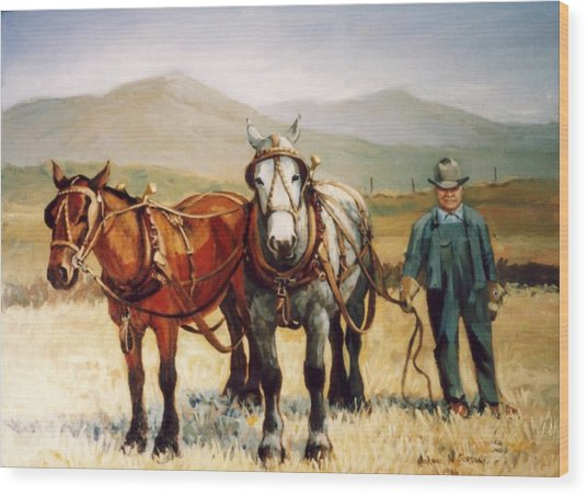 Ron Robison Wood Print by JoAnne Corpany