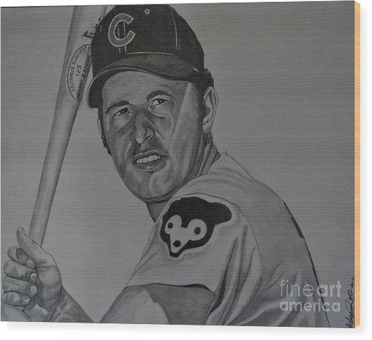 Ron Santo Portrait Wood Print