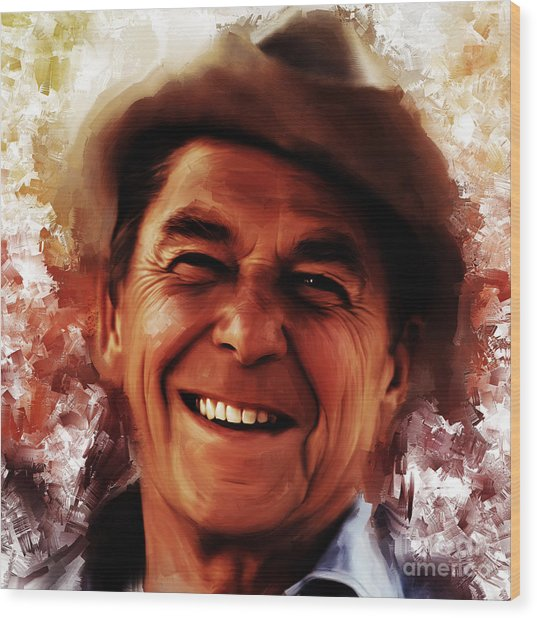 Ronald Reagan  Wood Print