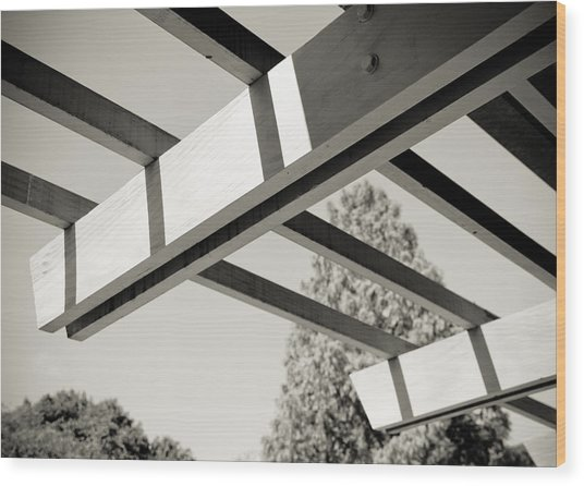 Roof Beams Wood Print by Edward Myers