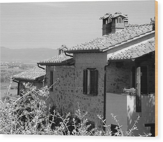 Roofs With A View Wood Print