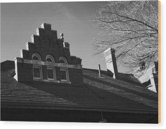 Roofline Wood Print