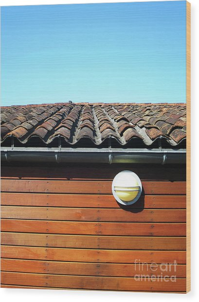 Roofline Ripples Wood Print