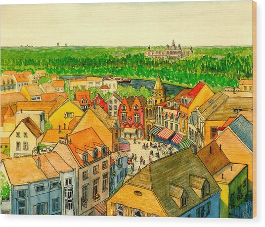 Rooftops Of Holland Wood Print