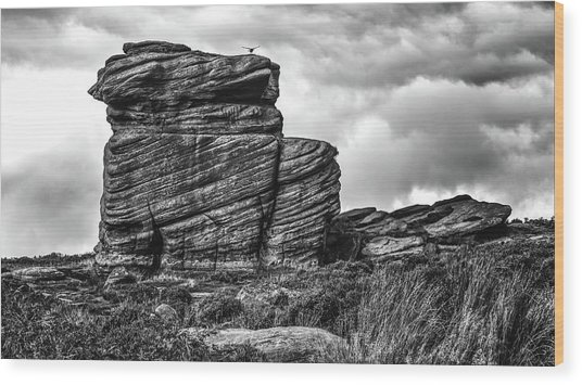 Rook Rock Wood Print