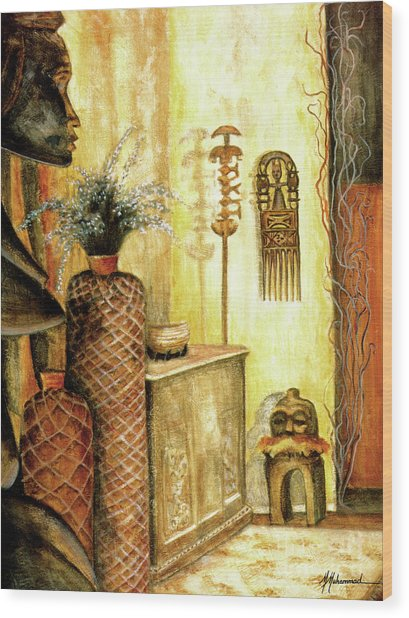 Room With A View Wood Print by Marcella Muhammad