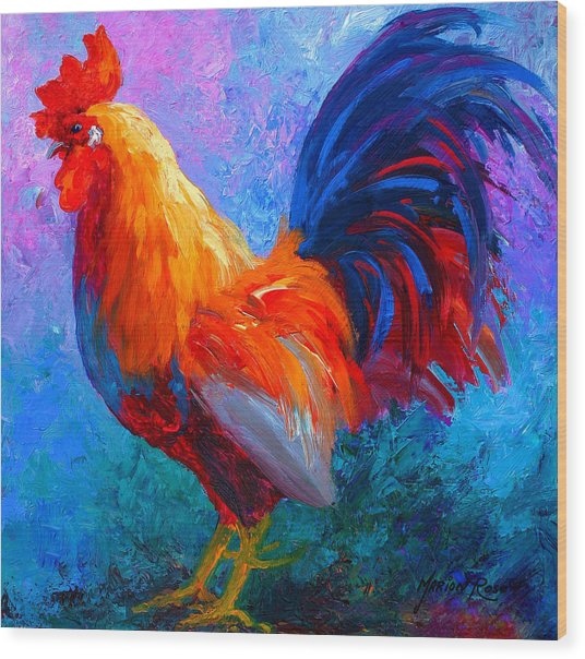 Rooster Bob Wood Print