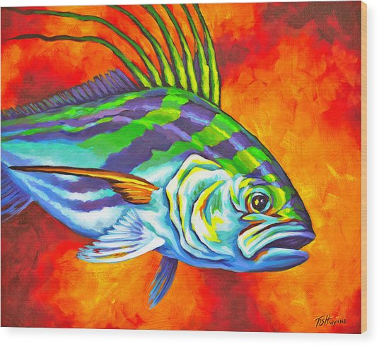 Rooster Fish Wood Print