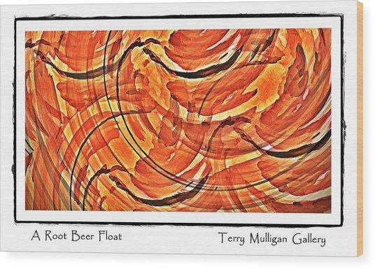 Root Beer Float Wood Print by Terry Mulligan