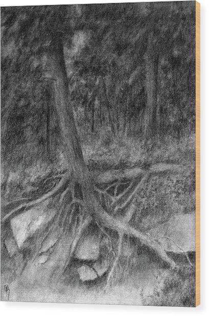 Roots II Wood Print