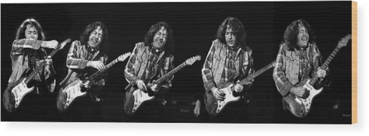 Rory Gallagher 5 Wood Print