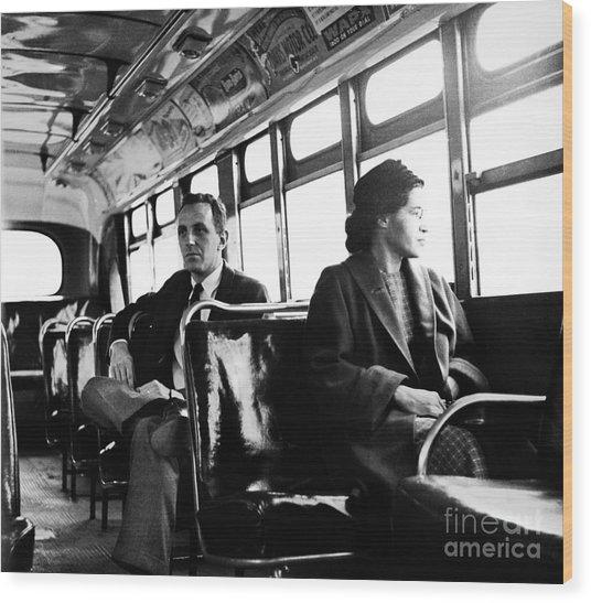 Rosa Parks (1913-2005) Wood Print by Granger
