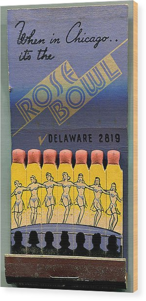 Rose Bowl Chicago Matches Wood Print