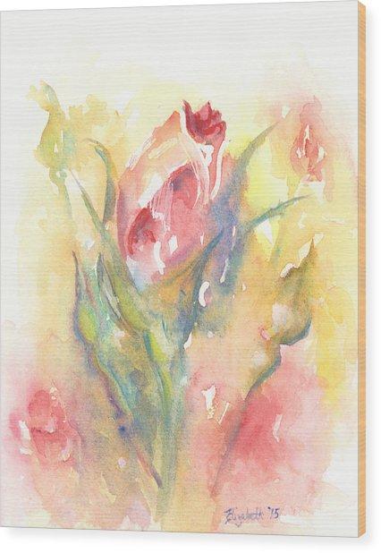 Rose Garden One Wood Print