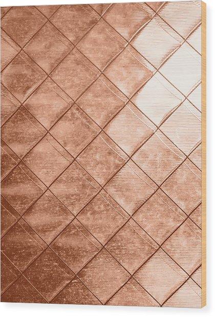 Rose Gold Crush Wood Print