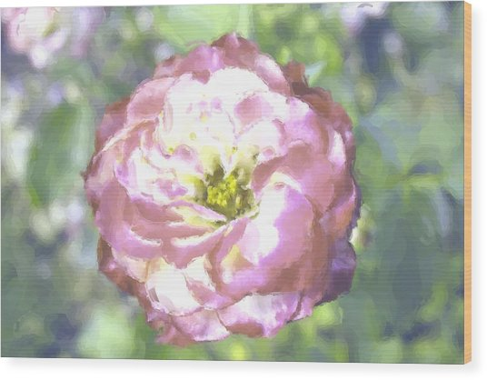 Rose Wood Print by Maria Freeman