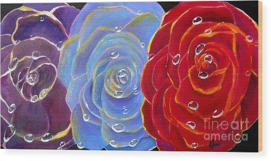 Rose Medley Wood Print