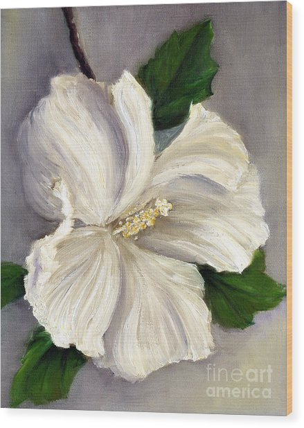 Rose Of Sharon Diana Wood Print